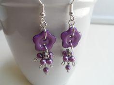 Purple Button Earrings http://www.etsy.com/shop/JewelryEveryday