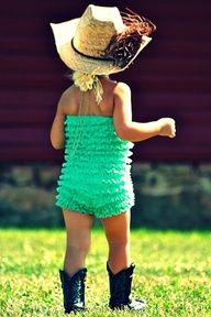 Cutest lil girl outfit and cowgirl boots. Love it.