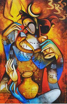Ideas For Abstract Landscape Oil Colour Shiva Art, Krishna Art, Hindu Art, Shiva Shakti, Buddha Kunst, Buddha Art, Lord Shiva Painting, Ganesha Painting, Om Namah Shivaya