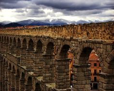 Roman Aquaduct in Segovia Spain by LifeForcePhotography on Etsy, $25.00
