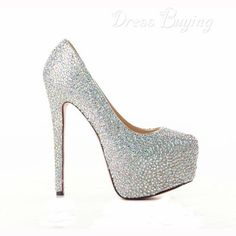 2012 Fall Shining Sheepskin Upper Stiletto Heel Round-toe Wedding Prom Shoes