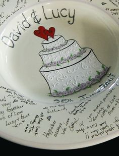 Personalized Engagement ceramic plate gift by HermansCreations $30.00 | Wedding ideas | Pinterest | Ceramic plates Engagement and 30th : personalized ceramic plate - pezcame.com