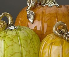 Cohn-Stone Studios: Forest mottled glass pumpkins
