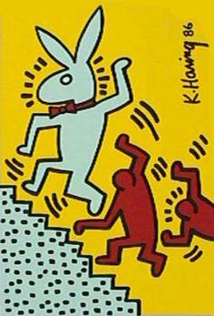 Artist: Keith Haring  Title: Playboy - Bunny  Year: circa 1990   Medium: Silkscreen  Paper Size:32 x 23 inches
