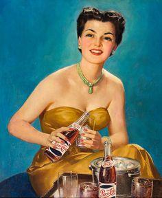 vintage ad for Pepsi. Style Retro, Style Vintage, Vintage Prints, Vintage Ads, Vintage Images, Vintage Posters, Vintage Romance, Vintage Food, Old Advertisements