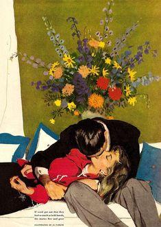 Al Parker was an American artist and illustrator Art Vintage, Vintage Romance, Retro Art, Vintage Love, Vintage Couples, Art Et Illustration, Arte Pop, Pulp Art, Oeuvre D'art