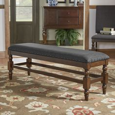 Additional seating in your home and dining area has never been made more simple or charming! Let the complete elegance of the Flatiron Burnished Oak Nailhead Trim Bench shine all of its natural glory ...
