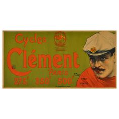 Late 19th Century Advertising Poster by Charles Tichon: Cycles Clement | From a unique collection of more prints at https://www.1stdibs.com/art/prints-works-on-paper/more-prints-works-on-paper/