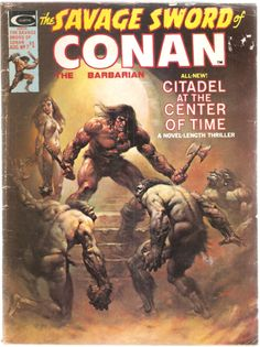The Savage Sword of Conan the Barbarian. Vol. 1, No. 7. U.S. Comic. Aug. 1975.