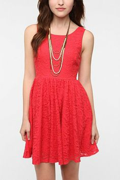 Pins And Needles Backless Lace Dress - Urban Outfitters