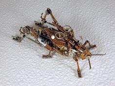 Steampunk Clockpunk Mechanical Bugs Sculpture