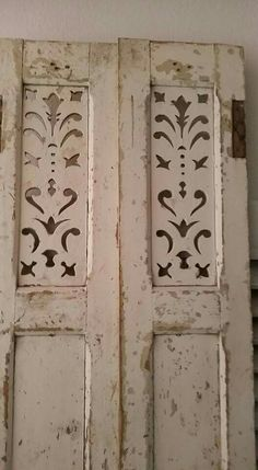 better than old. Vintage Shutters, Old Shutters, Interior Shutters, Shabby Vintage, Shabby Chic, Shutter Decor, Art Populaire, Vintage Interiors, Old Doors