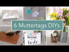6 schnelle DIY Geschenkideen zum Muttertag | neue Nähmaschine - YouTube Diy Videos, Gift Exchange, Different Shapes, Diy Cards, Giving, Greeting Cards, Presents, Place Card Holders, Caves