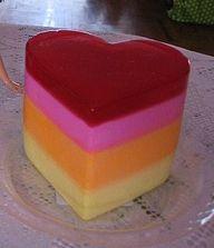 jello jiggler heart shape layers creamy