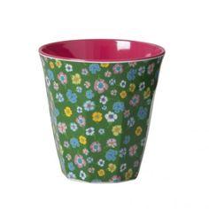 gekleurde bloemen groen/roze cup rice - glazen & bekers - Keuken