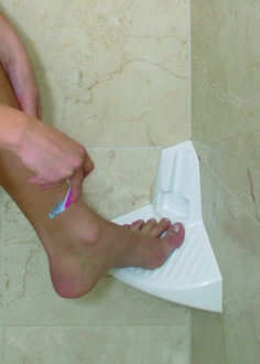 Finally, reduce the strain on your body when shaving your legs...  Beauty rituals can be a pleasure or a hassle, depending on how you go about them - especially when you shave your legs.  No other grooming routine puts more strain on your body and patience - until now!  Introducing ElevEase-The Shower Step!  The ElevEase shower step takes leg and foot care to a whole new level.  See and reach your legs and feet with ease: Shaving, Exfoliating, Moisturizing, Tanning are a BREEZE with…
