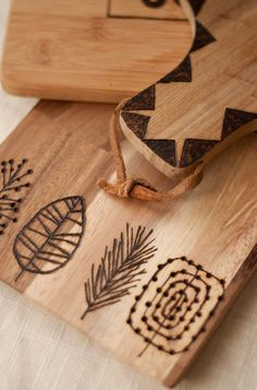 Design Mom wood burned cutting boards