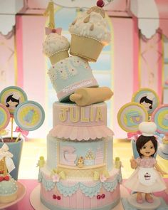 Candy Theme, Candy Party, Fondant Cakes, Cupcake Cakes, Prince Cake, Carousel Cake, Cake Shapes, Candy Cakes, Cake Pictures