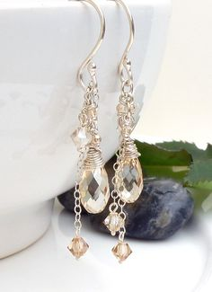 Champagne Crystal Earrings