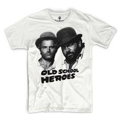 Old School Heroes – T-Shirt Weiss