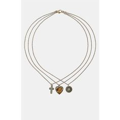 Topshop 'Ditsy Trio' Necklace Trio
