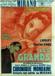 Les Grands - Vintage movie poster