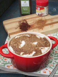 Banana Spice Cake baked Oatmeal with Cream Cheese