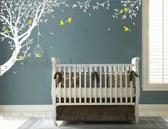 SALE!Wandtattoo+Wanddekoration+-+Baum+mit+Vögeln+von+NatureHomeArts+auf+DaWanda.com