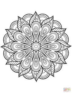 Free Coloring Pages Mandala. 30 Free Coloring Pages Mandala. Mandala From Free Coloring Books for Adults 23 Mandalas Flower Coloring Pages, Mandala Coloring Pages, Coloring Book Pages, Coloring Pages For Kids, Kids Coloring, Crayola Coloring Pages, Fairy Coloring, Alphabet Coloring, Online Coloring
