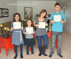 our pregnancy announcement ...baby #3 Repin and like :)