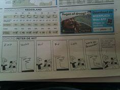 Leuke strip in VK: 'Zing, vecht, ...