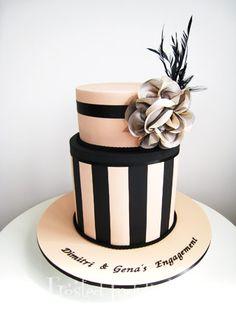 Blush And Black Wedding Cake Gorgeous Cakes, Pretty Cakes, Amazing Cakes, Cupcakes, Cupcake Cakes, Fondant Cake Designs, Fondant Cakes, Cakepops, Sweet 16