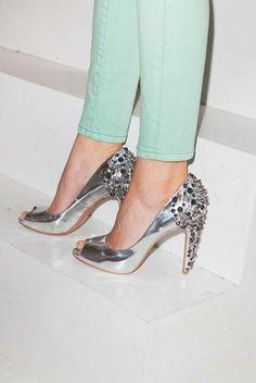 #Studs #urbanoutfitters #studded heels