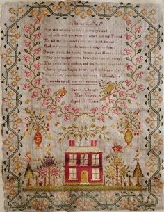 Vintage cross stitch samplers think, that