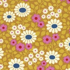 Hello Love - Heather Bailey - Fields Forever Gold | Fabric Spark
