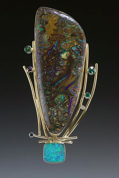 """Big Bertha Pin/Slide"" Ruthie Cohen Exhibiting member in Jewelry"