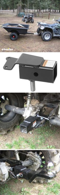 Haul a small trailer with your ATV or UTV with a Trailer Hitch Receiver. This hitch receiver fits Honda Rancher, Rubicon and Foreman