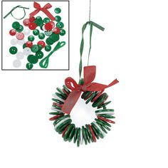 Amazon.com: Button Wreath Ornament Craft Kit for Kids: Arts, Crafts & Sewing