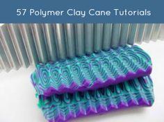 57 Polymer Clay Cane Tutorials