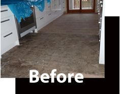 This floor was covered in glue right to the kick-boards of the kitchen. Find out how we coped with it here. http://www.economyfloorsanding.com.au/portfolio-item/sanding-timber-floors-glue/