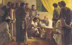 Joseph receives a blessing from Jacob.