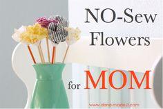 Cute...no sew flowers