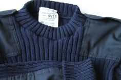 Mens Sweater Wool Military Sweater Navy Commando Pullover