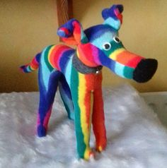 Rainbow the huggypuppy standing around 10 ins high x 12 ins long with safety eyes, fleece nose and fire retardant stuffing. Rainbow is a cuddly fun little puppy but also can be a great comfort to children whose beloved hound has crossed over rainbow b. Little Puppies, Rainbow Bridge, Whippet, Dog Toys, Rainbows, Unicorns, Cuddling, First Love, Dinosaur Stuffed Animal
