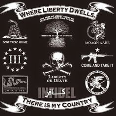 Back in Black Logo T-shirt - Now Available for purchase. All of our great designs on back! Patriotische Tattoos, Sleeve Tattoos, Tatoos, Come And Take It, Just For You, Molon Labe, Military Humor, Military Art, Dont Tread On Me
