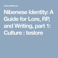 Nibenese Identity: A Guide for Lore, RP, and Writing, part 1: Culture : teslore