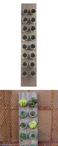 Top to bottom, this Verity Upright Planter does some cool things in a garden or patio. Its vertical orientation provides a fabulous angle for displaying your prized greens in vintage-inspired planters—...  Find the Verity Upright Planter, as seen in the Urban Arboretum Collection at http://dotandbo.com/collections/urban-arboretum?utm_source=pinterest&utm_medium=organic&db_sku=117716