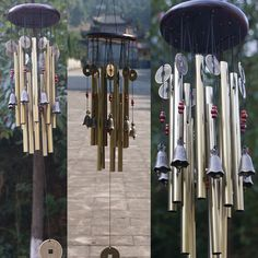 13 Tubes Outdoor Wind Chimes Yard Garden Church Bells Copper Home Decor Windbell