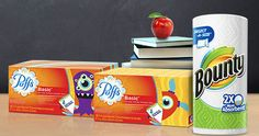Win a Years Supply of Puffs & Bounty for You and Your School - Visit GiveawayHop.com to find out more