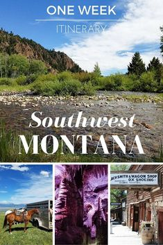 Planning a trip to Glacier or Yellowstone National Park? Don't miss out on exploring the amazing region of southwest Montana! Here's a one week itinerary to help you plan your vacation! #TravelDestinationsUsaMontana